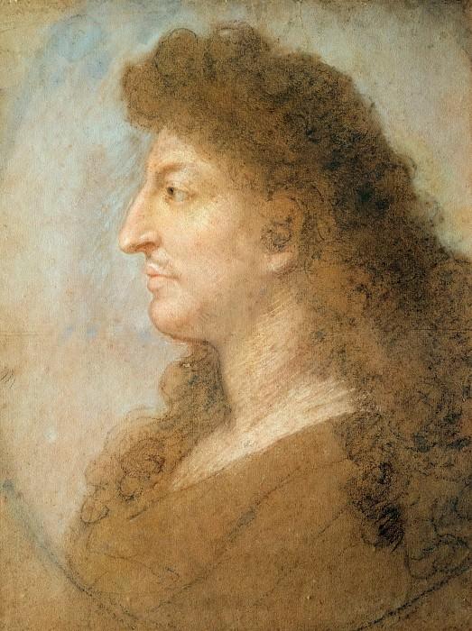 Le Brun, Charles -- Portrait of Louis XIV.. Part 2 Louvre