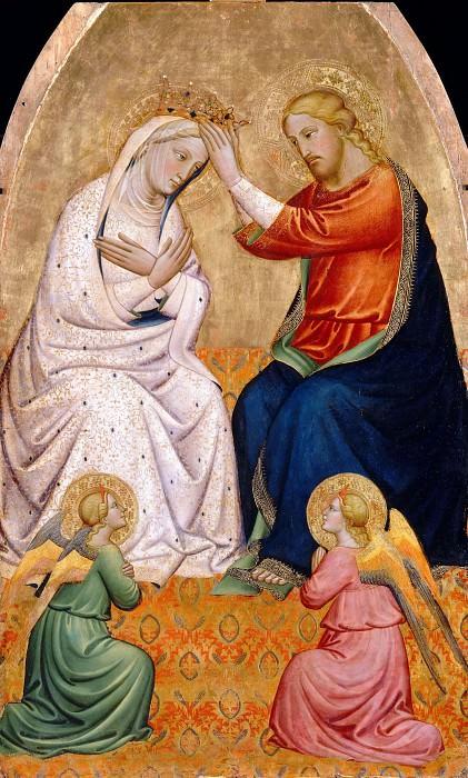 Tommaso del Mazza -- Coronation of the Virgin. Part 2 Louvre