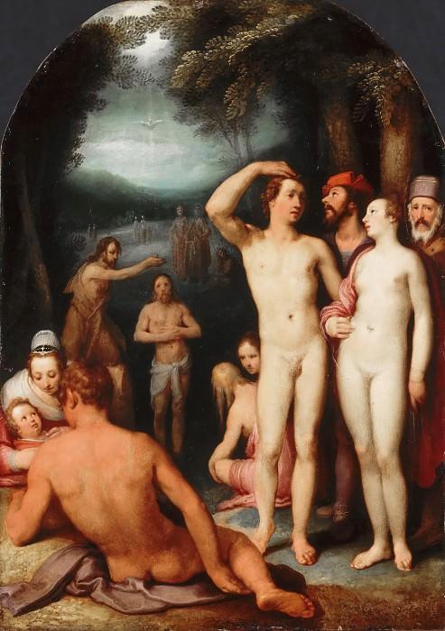 Корнелис ван Харлем (Харлем 1562-1638) -- Крещение Христа. часть 2 Лувр