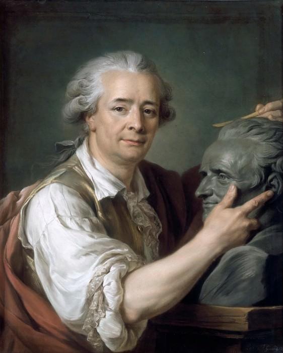 Adélaïde Labille-Guiard -- Portrait of Augustin Pajou, Sculptor. Part 2 Louvre