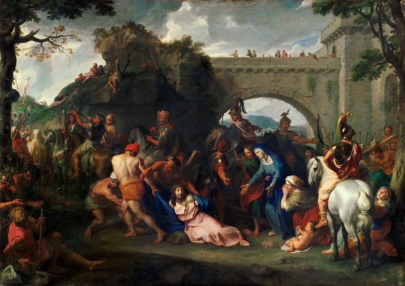 Charles Le Brun -- Carrying the Cross. Part 2 Louvre
