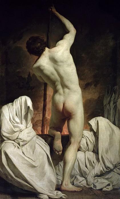 Сюблейра, Пьер-Юбер (1699 Сен-Жиль дю Гар - 1749 Рим) -- Харон, плывущий в царство теней. часть 6 Лувр