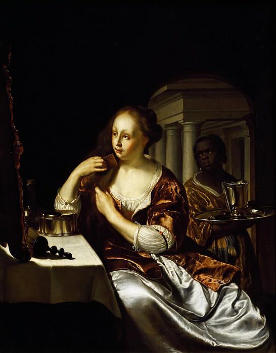 Мирис, Франс I ван (Лейден 1635-1681) -- Туалет дамы. часть 6 Лувр