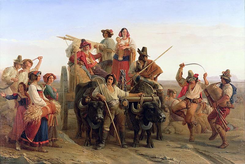 Робер, Леопольд-Луи (1794 Нефшатель - 1835 Венеция) -- Жнецы на Понтийских болотах. Part 6 Louvre