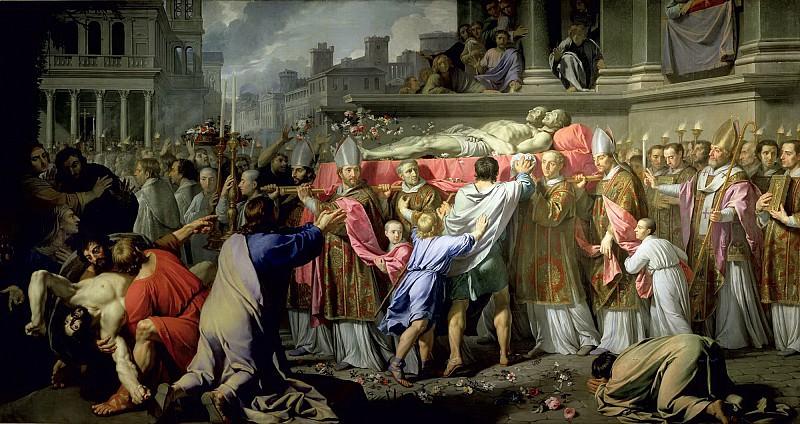 Шампень, Филипп де (1602 Брюссель - 1674 Париж) -- Перенос мощей святых Гервасия и Протасия в миланский собор. Part 6 Louvre