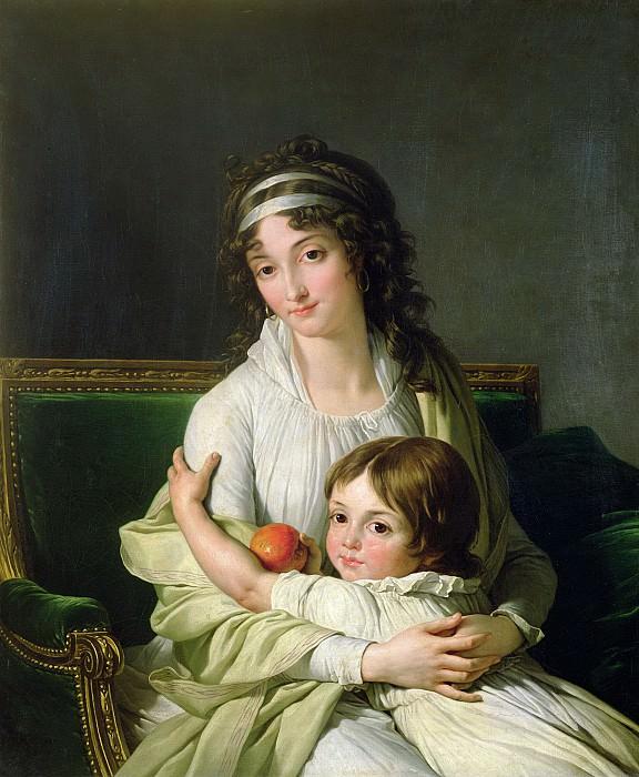 Венсан, Франсуа-Андре (Париж 1746-1816) -- Портрет мадам Жанны-Жюстины Бойе-Фонфред с сыном Анри. Part 6 Louvre