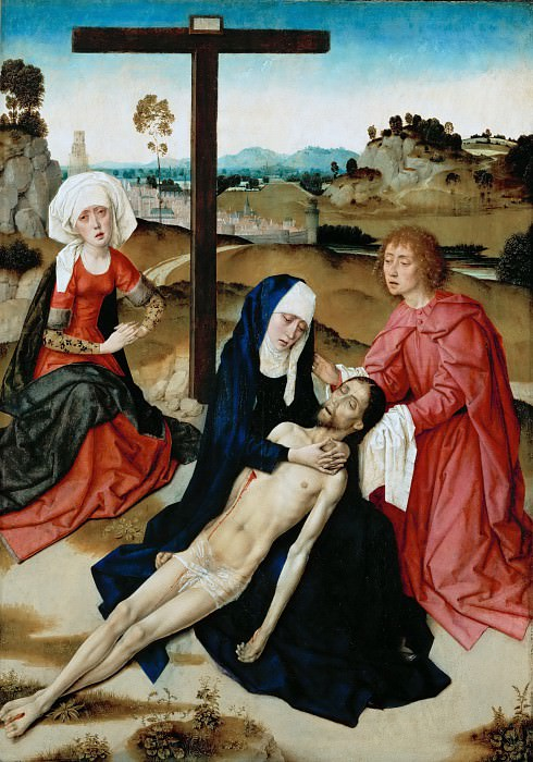 Баутс, Дирк (ок1415 Харлем - 1475 Лёвен) -- Оплакивание Христа. часть 6 Лувр
