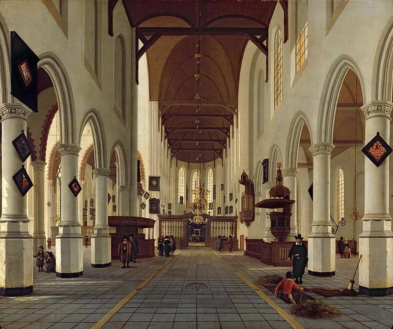 Влит, Хендрик Корнелис ван (Делфт ок1611-1675) -- Интерьер старой церкви в в Делфте. часть 6 Лувр