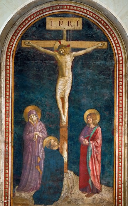 Fra Angelico (c. 1400-1455) -- Crucifixion with Saint Domenic. Part 6 Louvre