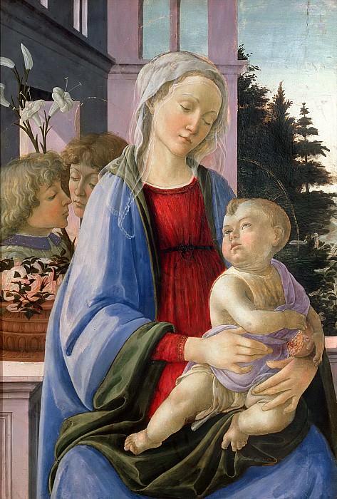 Липпи, Филиппино (1457 Прато - 1504 Флоренция) -- Мадонна с Младенцем и ангелами (Мадонна с гранатом). Part 6 Louvre