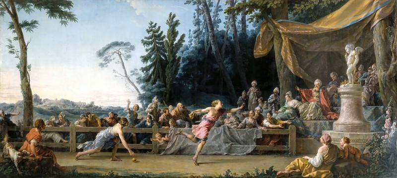 Noël Hallé -- The Race of Hippomenes and Atalanta. Part 6 Louvre