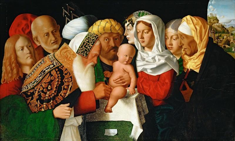 Bartolomeo Veneto -- The Circumcision. Part 6 Louvre