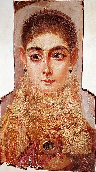 Египет (2 век) -- Фаюмский погребальный женский портрет. Part 6 Louvre
