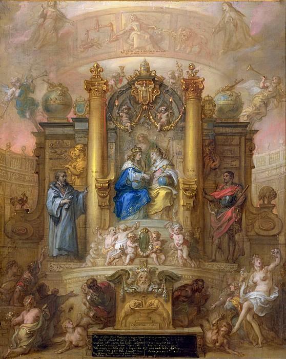 Тюльден, Теодор ван (Хертогенбос 1606-1669) -- Аллегория Пиренейского Мира 1659 года. Part 6 Louvre