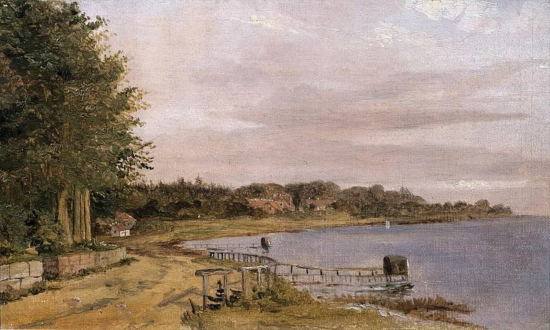 Кебке, Кристен (Копенгаген 1810-1848) -- Берег Эмилиекильде. Part 6 Louvre