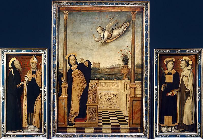 Брачческо, Карло (работал в Лигурии и Ломбардии в 1478-1501) -- Алтарь Благовещения. Part 6 Louvre