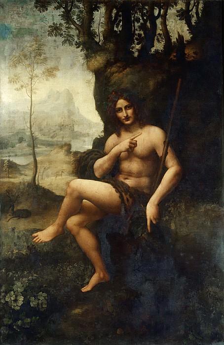 Leonardo da Vinci -- Saint John (Bacchus). Part 6 Louvre