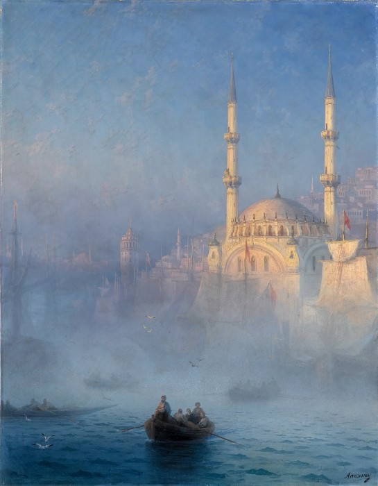 Ivan Ayvazovsky -- View of the Port of Constantinople. Part 6 Louvre