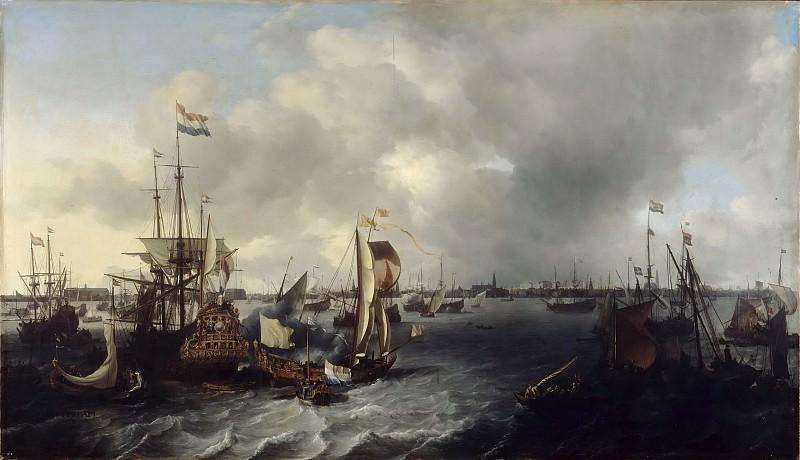 Бакхейзен, Людольф (1631 Эмден - 1708 Амстердам) -- Амстердамский порт. часть 6 Лувр