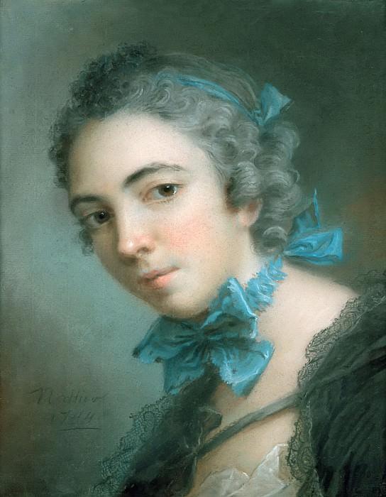 Наттье, Жан-Марк (Париж 1685-1766) -- Портрет девушки. часть 6 Лувр