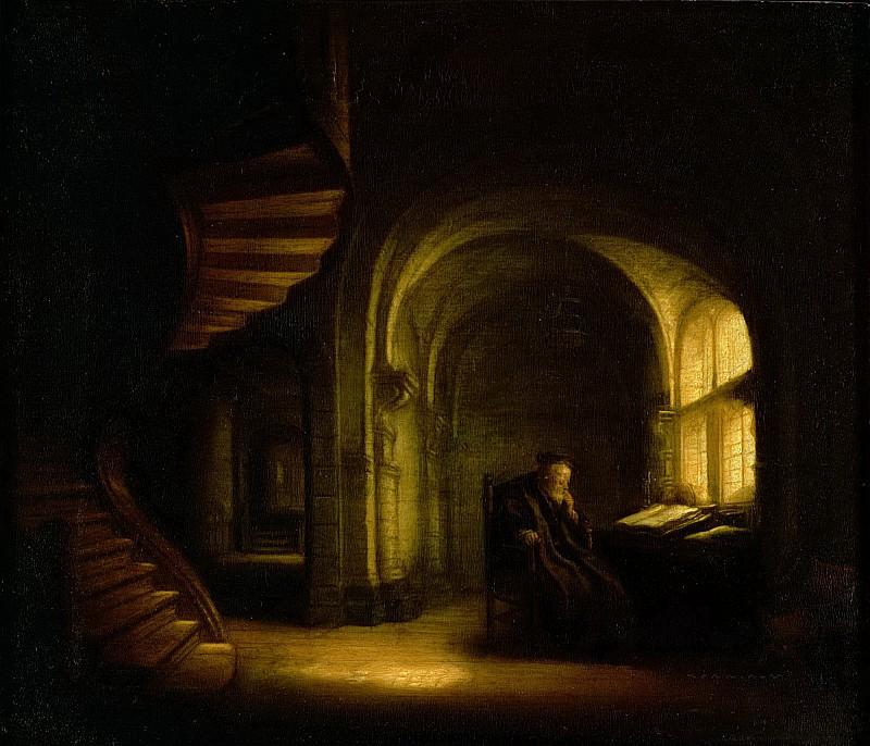Конинк, Соломон (Амстердам 1609-1656) -- Философ с открытой книгой. Part 6 Louvre