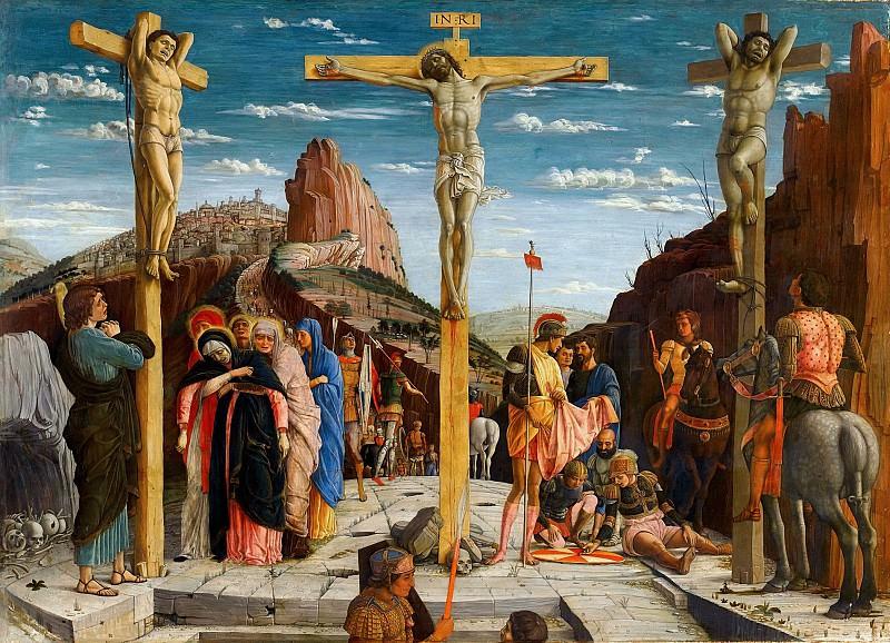 Мантенья, Андреа (1431 Изола ди Картура - 1506 Мантуя) -- Распятие. часть 6 Лувр
