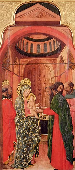 Джованни Франческо да Римини (1420 Римини - 1470 Болонья) -- Обрезание Господне (панель из алтаря Жизнь Марии). часть 6 Лувр