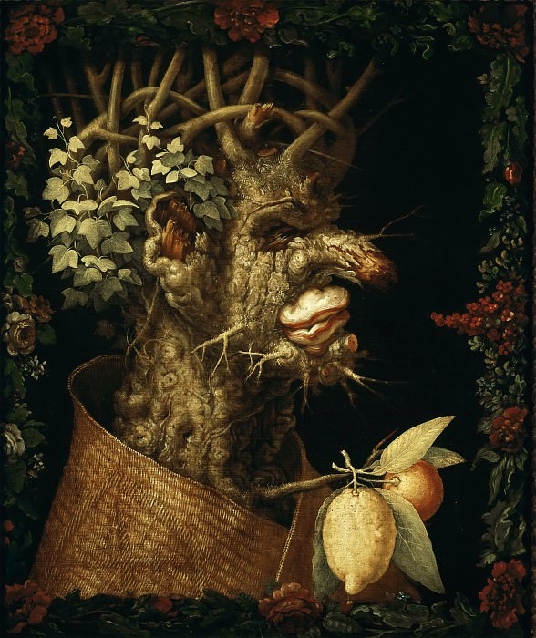 Giuseppe Arcimboldi -- Winter. Part 6 Louvre