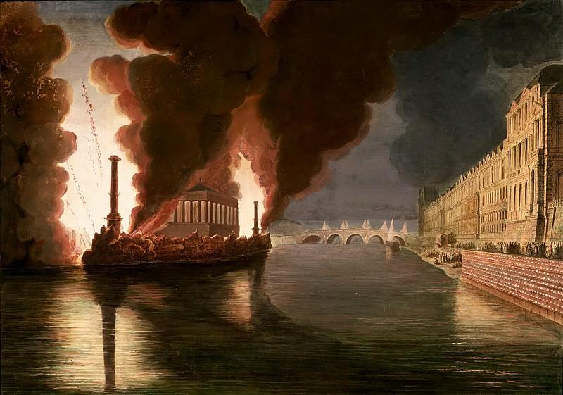 Пиранези, Франческо (c.1756-1810) -- Пожар на Сене. Part 6 Louvre