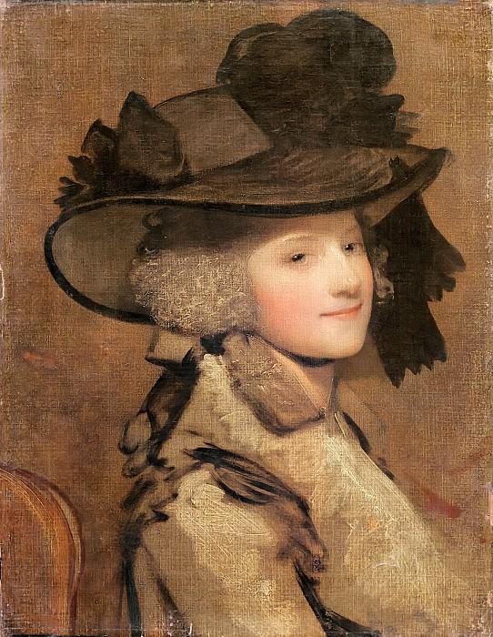 Рейнольдс, сэр Джошуа (1723 Плимптон Эрл - 1792 Лондон) -- Портрет женщины в черной шляпе. Part 6 Louvre