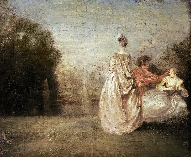 Ватто, Жан-Антуан (1684 Валансьен - 1721 Ножан-сюр-Марн) -- Две кузины. Part 6 Louvre