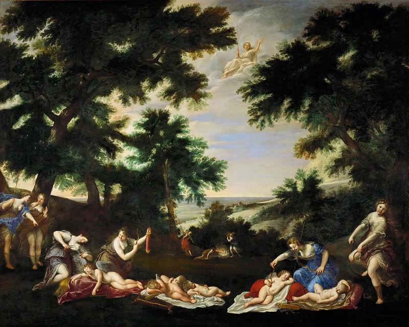 Албани, Франческо (Болонья 1578-1660) -- Обезоруживание Амуров. часть 6 Лувр