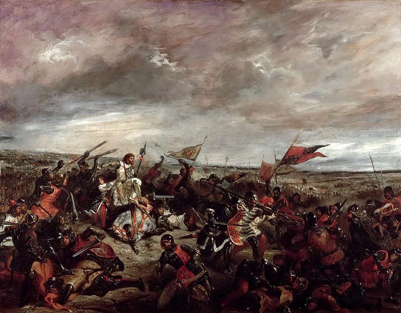 Делакруа, Эжен (1798 Шарантон-Сен-Морис - 1863 Париж) -- Король Франции Иоанн II Добрый в битве при Пуатье 19 сентября 1356 года. Part 6 Louvre