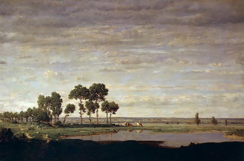 Руссо, Пьер-Этьен-Теодор (1812 Париж - 1867 Барбизон) -- Весна, пруд. Part 6 Louvre