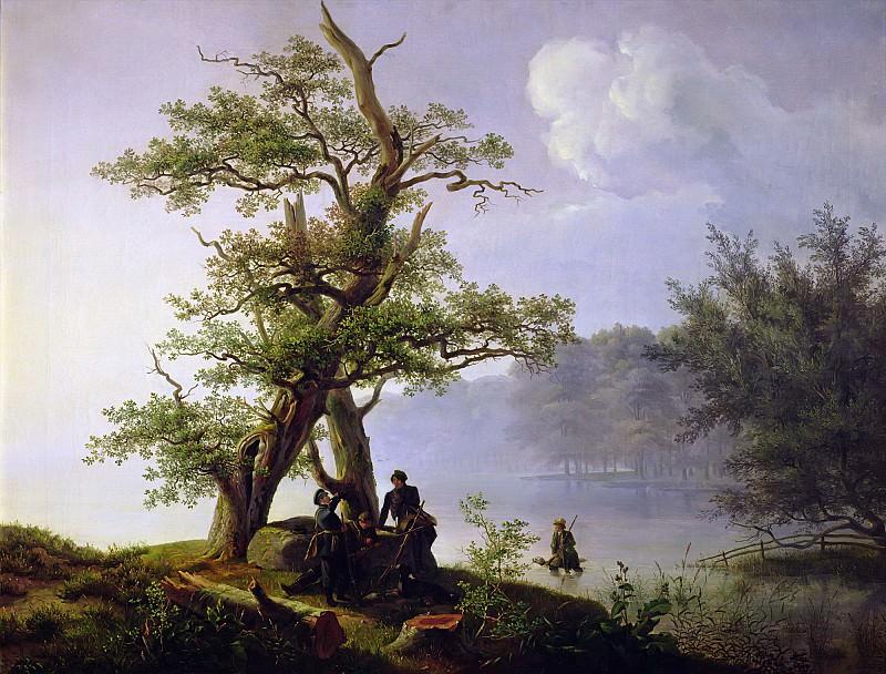 Фернли, Томас (1802-1843) -- Охота на водоплавающих птиц. Part 6 Louvre