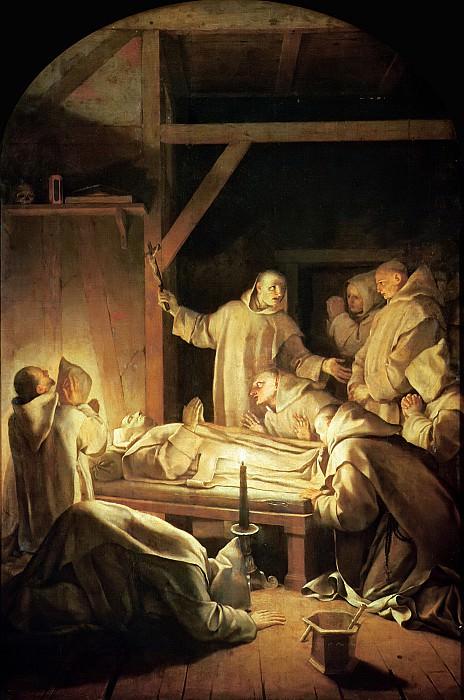 Лесюэр, Эсташ (Париж 1617-1655) -- Смерть святого Бруно. Part 6 Louvre