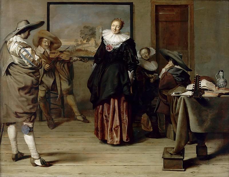 Кодде, Питер Якоб (Амстердам 1599-1678) -- Урок танцев. часть 6 Лувр