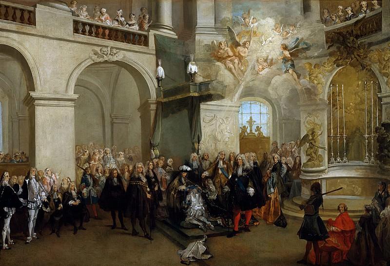 Ланкре, Никола (Париж 1690-1743) -- Вручение ордена Святого Духа в версальской часовне 3 июня 1724 года. Part 6 Louvre