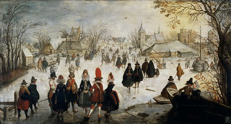 Брен, Адам ван (c.1585 Амстердам - c.1640 Норвеген) -- Ледовые забавы. Part 6 Louvre