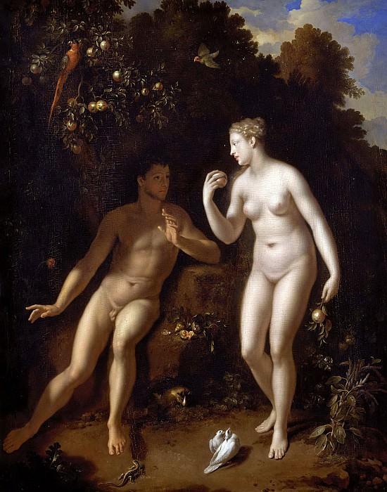 Верф, Адриан ван дер (1659 Кралинген - 1722 Роттердам) -- Адам и Ева в Эдемском саду. Part 6 Louvre