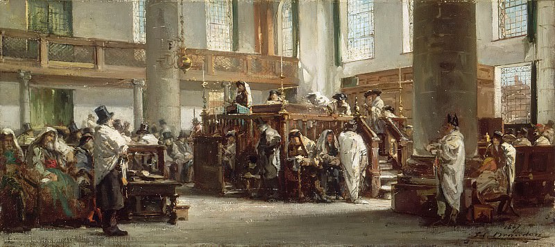 Edouard Brandon -- Sermon du Jeûne d'Ab (Sermon held by the Talmudist David de Jahacob Lopez Cardozo in the Portuguese Synagogue, Amsterdam). Part 6 Louvre