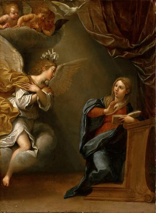 Албани, Франческо (Болонья 1578-1660) -- Благовещение. часть 6 Лувр