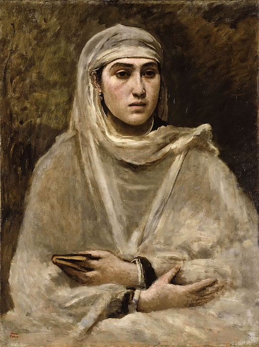 Algerierin -- ca. 1868-70; Öl auf Leinwand, 79 x 60 cm. Part 6 Louvre