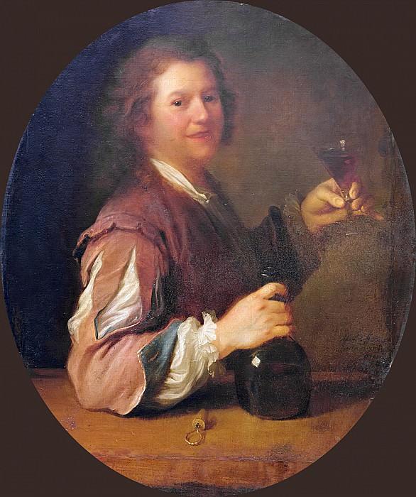 Гриму, Алексис (1678 Аржантей - 1733 Париж) -- Автопортрет с бокалом вина. Part 6 Louvre