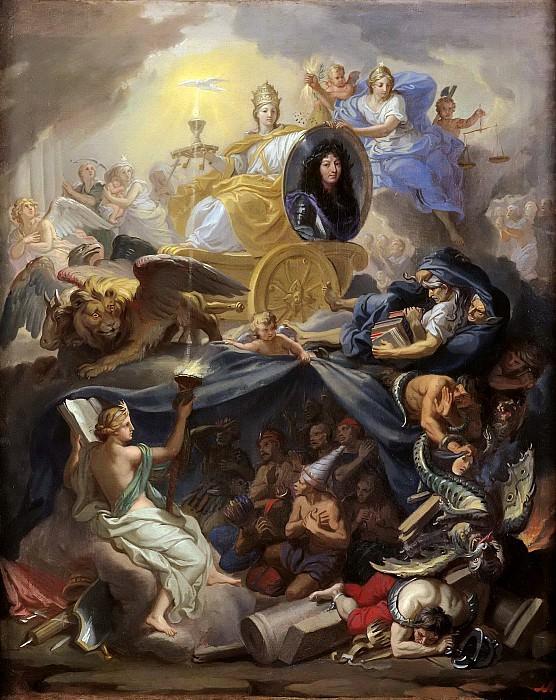 Лебрен, Шарль (Париж 1619-1690), мастерская -- Триумф религии в правление Людовика XIV. Part 6 Louvre