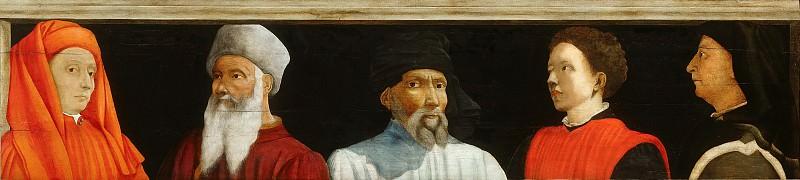 attributed to Paolo Uccello -- Portraits of Five Florentine Artists (Giotto, Paolo Uccello, Donatello, Antonio di Ciaccheri Manetti, Filippo Brunelleschi). Part 6 Louvre