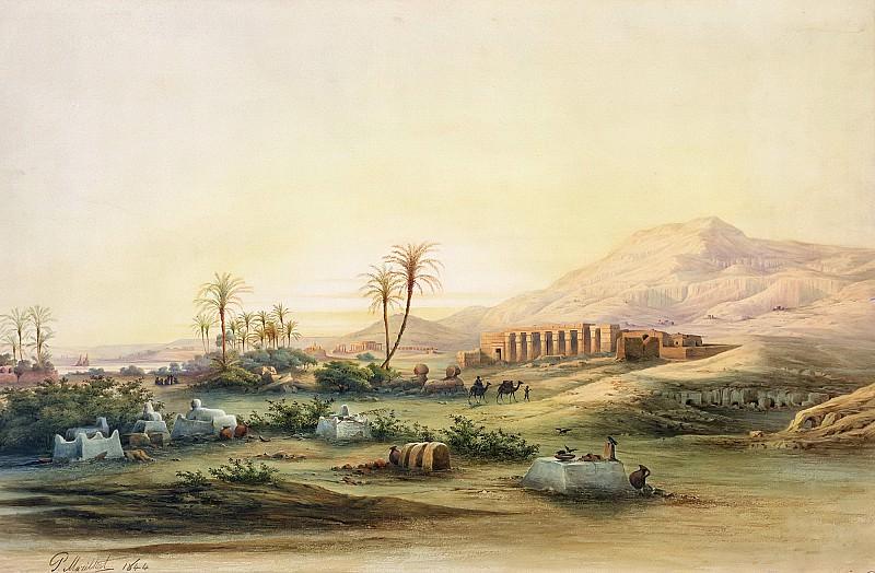 Марила, Проспер (1811-1847) -- Долина Нила с руинами храма Сети I. Part 6 Louvre