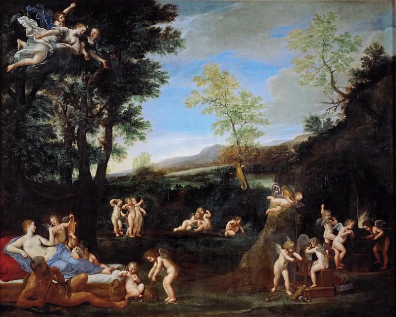 Francesco Albani (1578-1660) -- The Repose of Venus and Vulcan. Part 6 Louvre