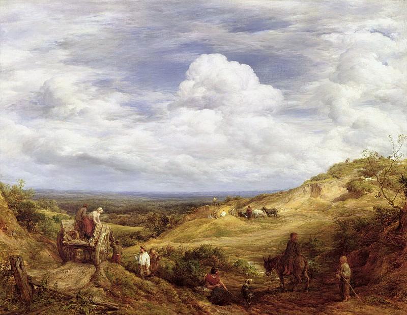 Линнелл, Джон (1792 Лондон - 1882 Редхилл, Суррей) -- Песчаный карьер в Хэмпстед-Хит. Part 6 Louvre