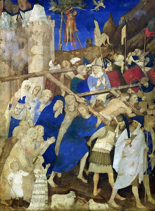 Жакмар де Эден (c.1355-c.1414) -- Несение креста (миниатюра из Большого Часослова герцога Беррийского). Part 6 Louvre